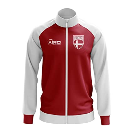f8e49f04b6a Image Unavailable. Image not available for. Color: Airo Sportswear Denmark  Concept Football Track Jacket (Red) - Kids