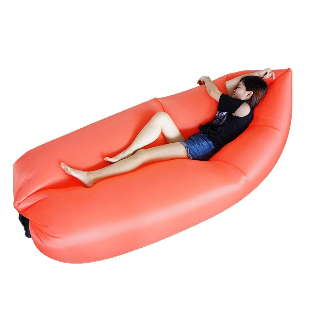 Inflatable Lounger Air Sofa Hammock - Portable Anti-Air Leaking & Waterproof Pouch Couch and Beach Chair Camping Accessories for Parties - Perfect Air Chair for Picnics or Festivals by Chenguojian