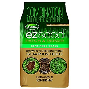 Scotts EZ Seed Patch & Repair Centipede Grass - 10 Lb. | Combination Mulch, Seed & Fertilizer | Reduces Seed Wash-Away | 17542