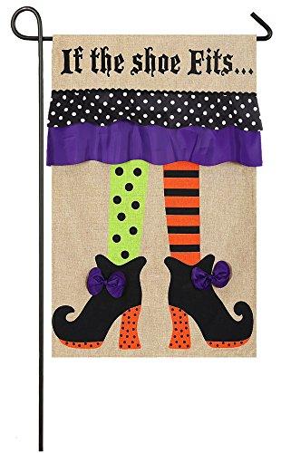 Evergreen Flag 14B3442BL Witch Feet Garden Flag ()