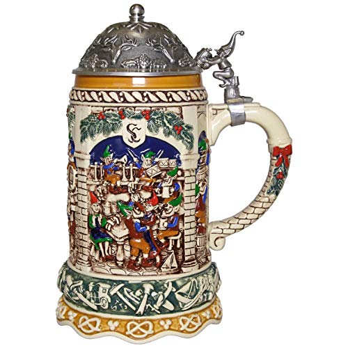 Hallmark Elf Festivities Ceramic Christmas Beer Stein Holiday Spirits ()