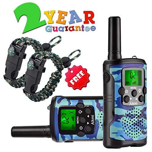 Good Gifts For 6 Year Old Boy (Walkie Talkies for Kids 22 Channel 2 Way Radio 3 Miles Long Range Handheld Walkie Talkies Durable Toy Best Birthday Gifts for 6 Year Old Boys and Girls fit Outdoor)
