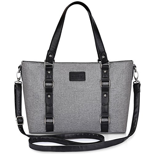 S-ZONE Women's Large Tote Shoulder Bag Travel Crossbody Bag Lightweight Satchel (Gray)