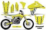 2006 suzuki rmz 450 graphics - AMR Racing Graphics Kit for MX Suzuki RMZ 450 2005-2006 DIAMOND RACE YELLOW