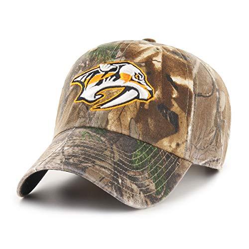 OTS NHL Nashville Predators Men's Challenger Adjustable Hat, Realtree, One Size (Hat Predator Camo)
