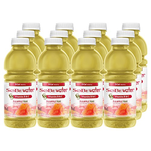 SoBe Water, Vitamin Enhanced, 0 Calories, Fuji Apple Pear, 20 Ounce, (Pack of 12) - incensecentral.us