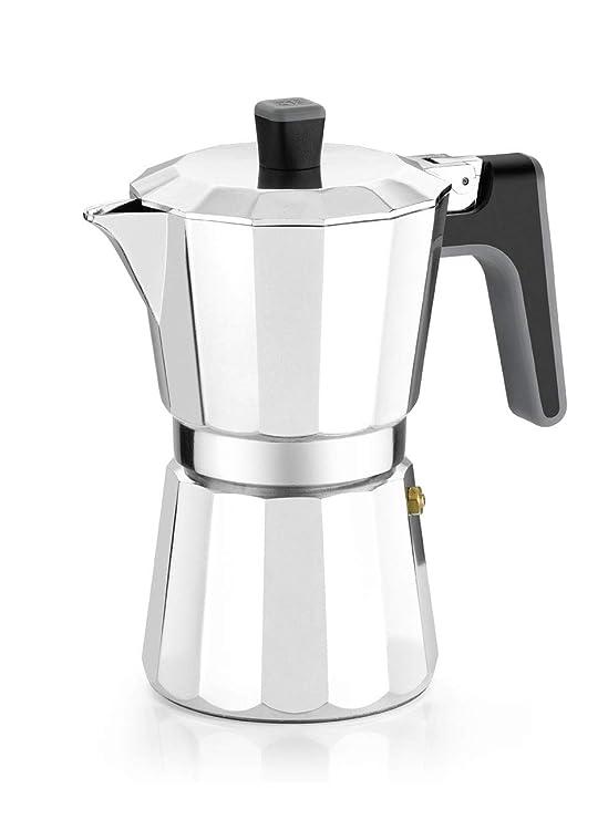 BRA Perfecta - Cafetera Italiana Inducción, Aluminio, capacidad 6 tazas, color plata: Amazon.es: Hogar