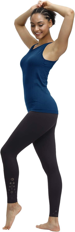 Disbest Sport Tanktop Damen Yoga Top mit atmungsaktive schnelltrocknende Stoffe und Komfort Nahtlos Design Integrierte Bras f/ür Yoga Training Laufen Wandern Fitness Freizeitkleidung