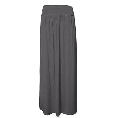ZEE FASHION - Falda - para Mujer Negro Gris Oscuro XXX-Large (52 ...