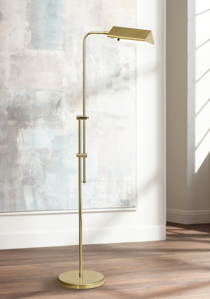 Amazon brass finish pharmacy floor lamp office products mozeypictures Choice Image