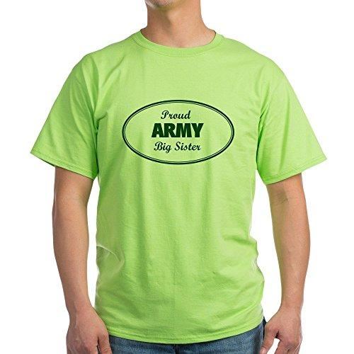 CafePress Proud Army Big Sister Ash Grey T-Shirt - 100% Cotton (Sister Ash Grey T-shirt)