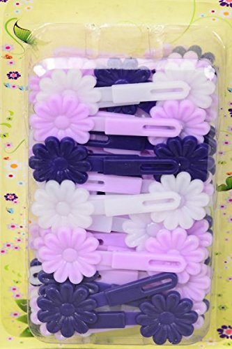 Amazon.com   Toddler Hair Barrettes Small Daisy Flowers- Hair Clips  (Purple)   Beauty 311c878154b