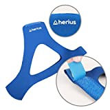 Stop Snoring the Most Effective Snoring Solution By Herius Adjustable Anti Snoring Chin Strap Sleep Aid Device