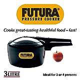 Futura Hard Anodised Pressure Cooker, 3 Litre
