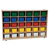 Wood Designs WD16033 30 Tray Storage with Assorted Trays