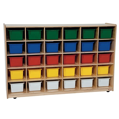 Wood Designs WD16033 30 Tray Storage with Assorted Trays by Wood Designs