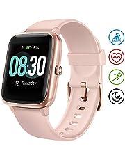UMIDIGI Smartwatch Fitness Tracker Uwatch3, Armbanduhr Sportuhr Smart Watch für Damen Herren Kinder mit Herzfrequenz Schlaftracker 5 ATM Wasserdicht Kompatibel mit Android und IOS,Rosa Gold