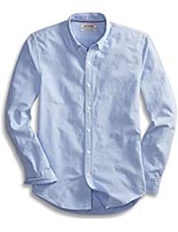 Men's Slim-Fit Long-Sleeve Solid Oxford Shirt