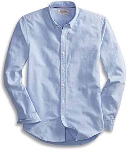 Camisa Oxford sólida, manga larga, ajustada, para hombre, marca Goodthreads.