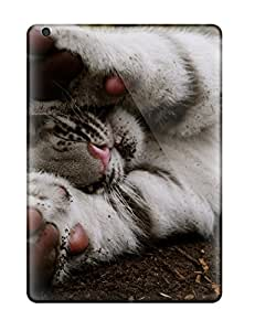 Brand New Air Defender Case For Ipad (white Tiger)