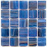 3/4'' Mosaic Tile - P 61 Lapis Lazuli - 1 lb bag Hakatai Brand Glass Tile