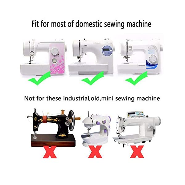 Babylock New Home Juki Brother Euro-Pro Roller Sewing Machine Presser Foot Janome Kenmore White Elna and More Simplicity Fits All Low Shank Snap-On Singer