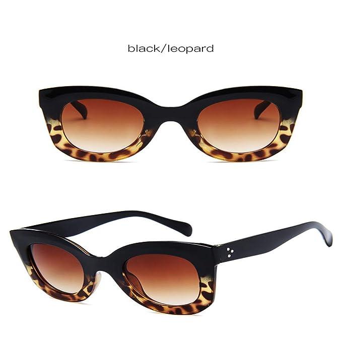 Wang-RX Gafas de sol retro con forma de ojo de gato, mujer ...
