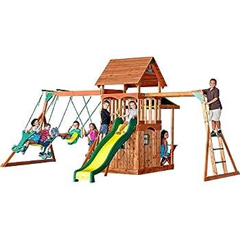 Amazon Com Meadowvale Wooden Swing Set Toys Games