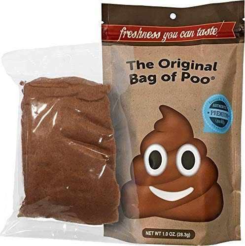 The Original Bag of Poo, Novelty Poop Emoji Cotton Candy Gag Gift -