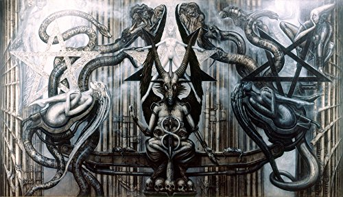 Baphomet Fabric Cloth Rolled Wall Poster Print -- Size: (43