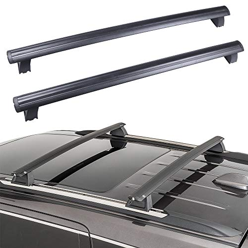 ECCPP Roof Rack Cross Bar Roof Rack Cross Bars Luggage Cargo Carrier Rails Fit for 2011-2018 Jeep Grand Cherokee Sport Utility 4-Door,Aluminum(Only Fits with OEM Roof Rails)