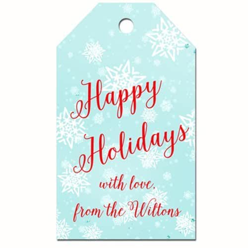 photo about Personalized Gift Tags Printable known as : Custom-made Snowflake Winter season Wonderland Cling