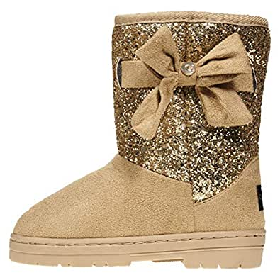 Amazon.com | bebe Girls Glitter Winter Boots Size 4 with