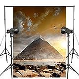 5x7ft Exquisite dessert Egypt pyramids Photography Backdrop Magnificent Landscape Background Photo Tourism studio Backdrop Props wall-258