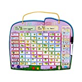 Chore Reward Chart for Multiple Kids with Magnetic Backing, 3 Dry Erase Markers and Storage Bag - Ele-fun Responsibility Star Chart, 16.4 X 13
