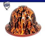 Pyramex Ridgeline Full Brim Custom Colors Hard Hat (Wicked Flames)
