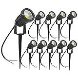 10 LED Garden Lights Cob Cool White 5W 220V Outdoor Spotlight with Spike IP65 Garden Landscape Lamp