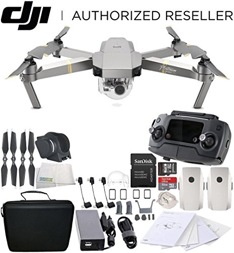 Cheap DJI Mavic Pro Platinum Collapsible Quadcopter Essential Travel Bundle