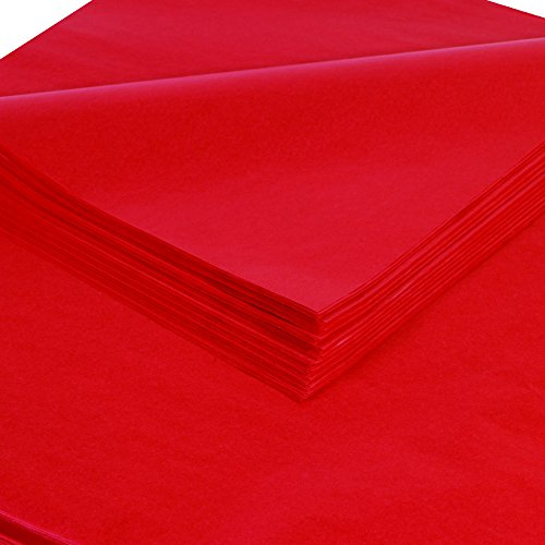 BOX USA BT2030V Tissue Paper, Gift Grade, 20'' x 30'', Mandarin Red (Pack of 480) by BOX USA