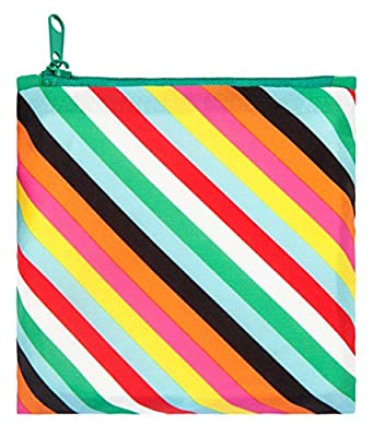 LOQI Pop Stripes Reusable Shopping Bag, Multicolor