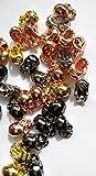 100pcs 6-10mm Brass Skull gold seamless Skull Solid Brass Bead Skeleton Connector Bead