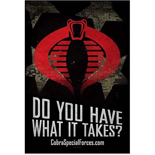 G.I. Joe Cobra logo promo poster 8 x 10 Inch Photo]()