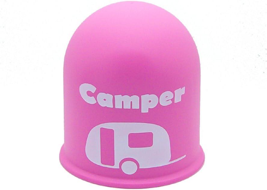 Schutzkappe Anhängerkupplung Blickfang Campingplatz Wohnwagen Caravan Rosa Auto