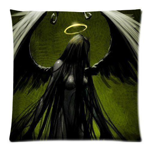 Generic Grim Reaper with Wings Pattern Printed Custom Zippered DIY Cushion Cover Pillow Cases Standard Size 18 by 18 Inches (Twin sides)]()