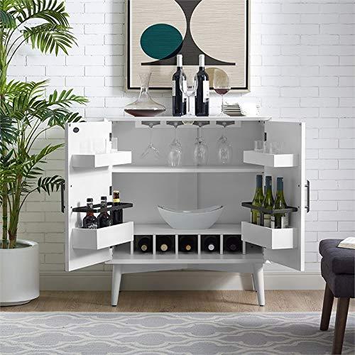 Crosley Furniture CF4403-WH Landon Mid-Century Modern Bar Cabinet, White by Crosley Furniture (Image #7)