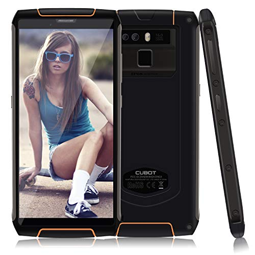 CUBOT King Kong 3, 4G Rugged Smartphone Unlocked, IP68 Waterproof, 5.5 Inch HD+, 6000mAh, 9V/2A Fast Charge, 4GB+64GB, Dual 4G LTE, Android 8.1, 13MP+16MP Triple Cameras, NFC, OTG, Fingerprint, GPS