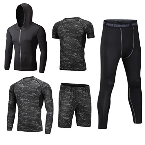 Men Compression Leggings Base Layer Sports Running Fit Fitness Gym Long Pants