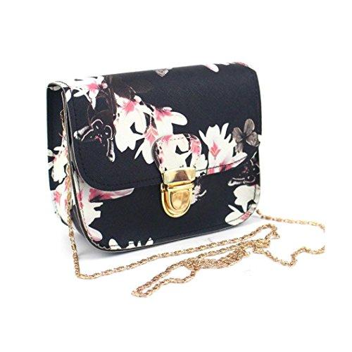 Femmes Noir Bandoulière Fourre Bag tout Papillon À Main A Sac Messenger Impression Langer Fleur Zycshang 6FxvgUwWnz