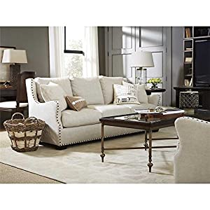 Connor Belgian Linen Upholstered Slope Arm Sofa