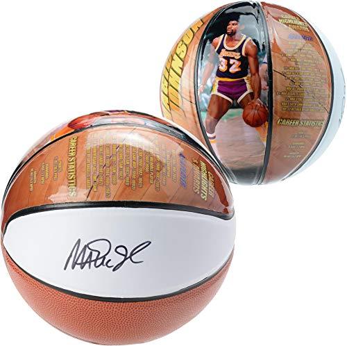 (Magic Johnson Los Angeles Lakers Autographed Size 4 Photo Basketball - Fanatics Authentic Certified - Autographed Basketballs)